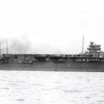 The Shokaku sailing in the sea