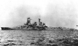 The Battleship Kongo sailing.