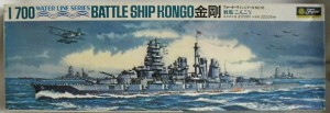 Kongo Battleship at scale 1/700 made by Fujimi.