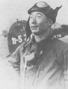 Imperial Japanese Navy fighter ace Hatsuo Hidaka. In service in the Sino-Japanese and Pacific wars, he was credited with destroying 11 enemy aircraft. This picture was taken sometime between 1939 and 1942 when Hidaka was serving as an instructor pilot with the Kasumigaura Air Group in Japan.