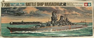 Musashi Battleship at scale 1/700 made by Tamiya