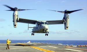 V-22 Osprey Taking-off from carrier deck