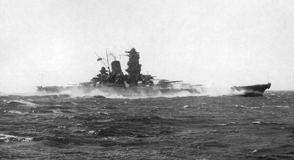 Battleship Yamato:  high speed trials at 1941.
