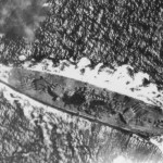 Musashi under aerial attack, 24 october, 1944 during battle of Sibuyan sea.