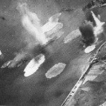Tone under attack in Kure, July 1945