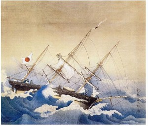 The Kanrin Maru was the first Japanese ship ever to cross the Pacific.