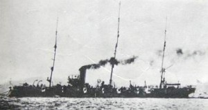 Chiyoda (千代田?) was a protected cruiser of the Imperial Japanese Navy, which served in the First Sino-Japanese War, Russo-Japanese War and World War I.