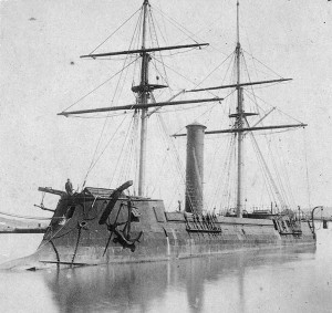 Kōtetsu, Japan's first ironclad warship, as CSS Stonewall c. 1865.