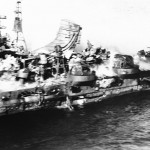 mogami cruiser damaged in midaway
