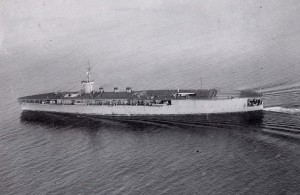 Japanese aircraft carrier Hōshō in Tokyo Bay