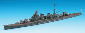 Constructed 1/700 model ship for the Japanese heavy cruiser CA Kinugasa from Hasegawa.