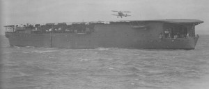 Carrier Hosho performs air operations around the time of the Shanghai incident.