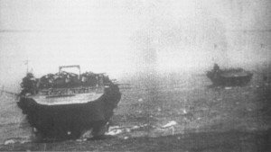 Kaga (foreground), with Zuikaku (background), heads towards Pearl Harbor sometime between 26 November and 7 December 1941.