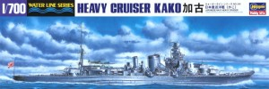 1/700 model ship for the Japanese heavy cruiser CA Kako from Hasegawa.
