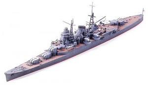 Constructed 1/700 model ship for the Japanese heavy cruiser CA Mikuma from Tamiya.