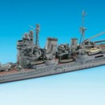 Constructed 1/700 model ship for the Japanese heavy cruiser CA Myoko from Hasegawa.