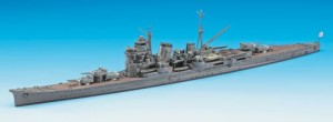 Constructed 1/700 model ship for the Japanese heavy cruiser CA Nachi from Hasegawa
