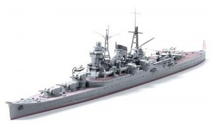 Constructed 1/700 model ship for the Japanese heavy cruiser CA Suzuya from Tamiya.