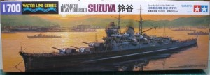1/700 model ship for the Japanese heavy cruiser CA Suzuya from Tamiya.