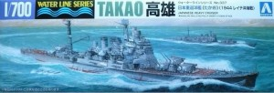 1/700 model ship for the Japanese heavy cruiser CA Takao from Aoshima.