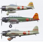 The Akagi fighter, bomber and torpedo squadrons color marks.