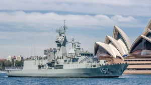 HMAS Perth FFG-157 at sydney.