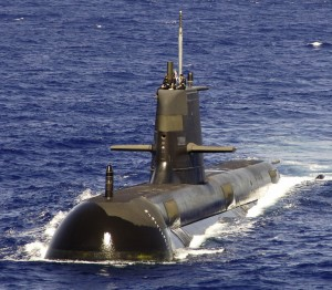 HMAS Rankin Submarine during training exercises in 2007