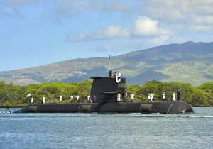HMAS Sheean SSG 77 at Pearl Harbor