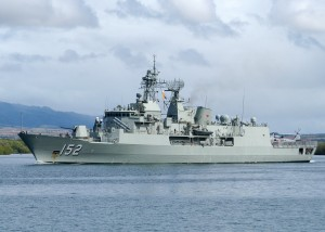 MAS Warramunga (FFH 152) departs Joint Base Pearl Harbor-Hickam to support Rim of the Pacific (RIMPAC) 2010 exercises.