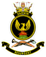 HMAS Darwin FFG 04 Badge