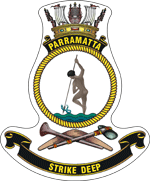 HMAS Parramatta's badge.