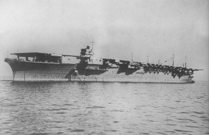 Zuikaku at Kobe on 25 September 1941 after launching, awaiting delivery to the Imperial Japanese Navy.