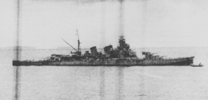 Aoba, photographed off Buin, Bougainville after the Battle of Cape Esperance