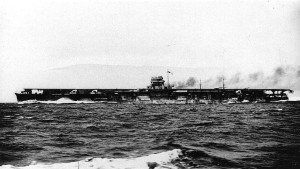 Hiryū running her speed trials, 28 April 1939