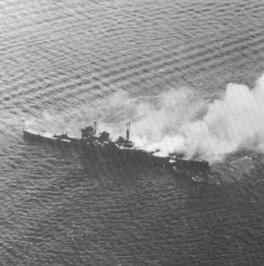Nachi under attack by USN aircraft, 5 November 1944.