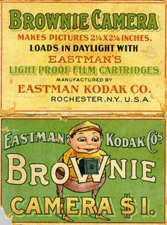 Enligh ad on EastMan Kodak Brownie Camera