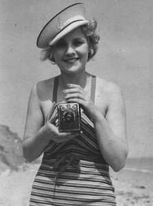 Ladies were one of the targets of the Brownie camera marketing campaigns.