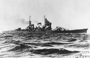 Japanese cruiser Haguro 20 June 1945
