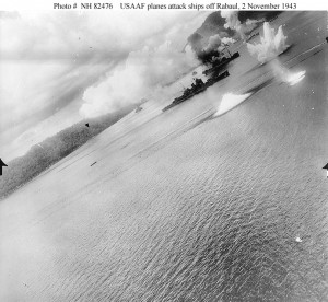 An interesting and vivid USAAF gun camera footage of Haguro under attack at Rabaul