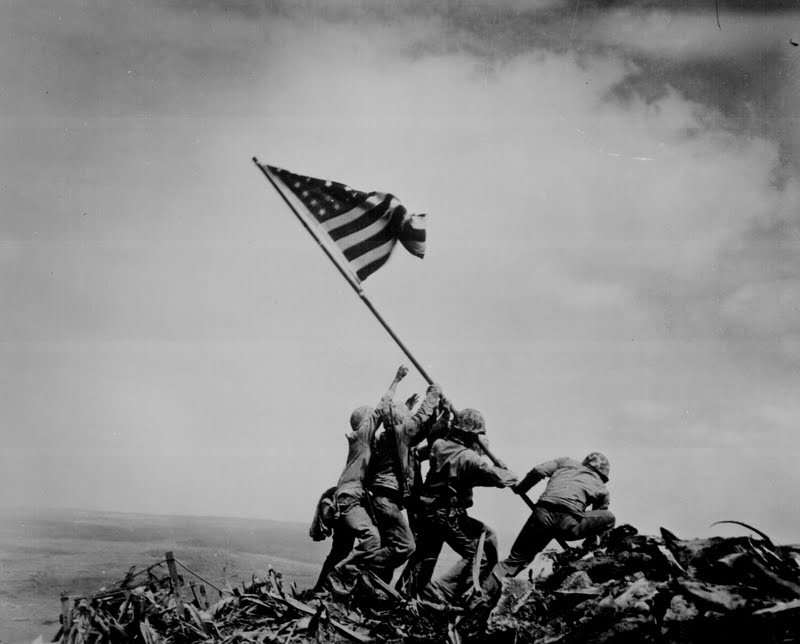 Iconic Photography taken in Iwo Jima with a Brownie Camera.