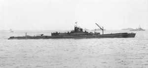IJN I-401, with its long plane hangar and forward catapult