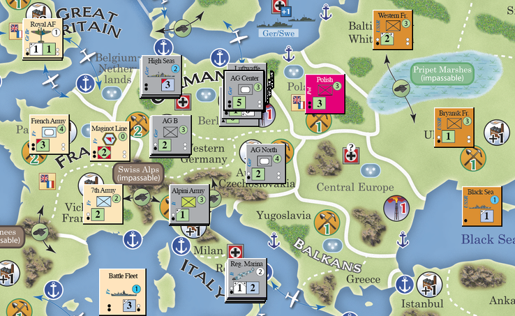 Cps blitz a world in conflict board game strategy history blitz world in conflict compass game european deployment before war starts publicscrutiny Images