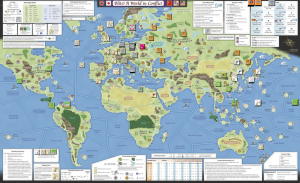 Blitz World in Conflict The map includes entire world, from America, and Africa to Europe and Asia.