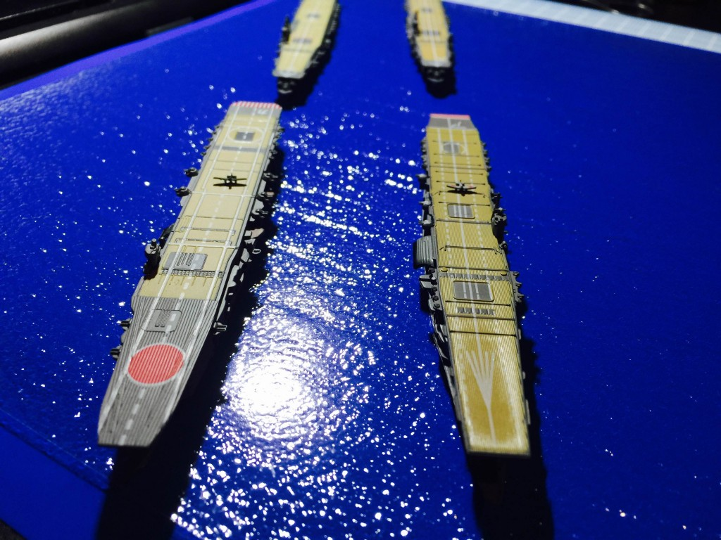 A formation with the Akagi, Kaga, Zuikaku and Shokaku at 1/700 scale