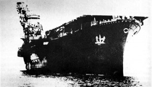 Japanese carrier Hiyo at anchor
