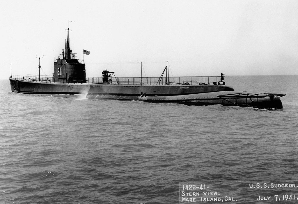 The United States Navy  submarine  SS-221 Gudgeon in 1941