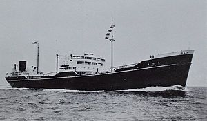 Toho Maru after completion and before being converted into IJN Fleet Oiler