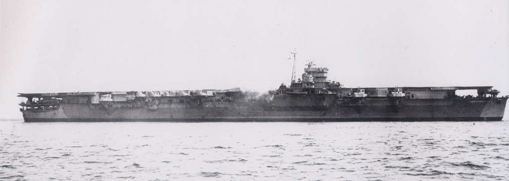 Unryu  Japanese Aircraft fleet carrier on training mission, summer 1944.