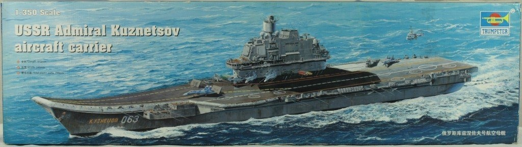 admiral kuznetsov model kit at 1350 scale
