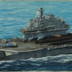 Admiral Kuznetsov model kit at 1/350 scale.